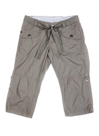 khaki pants: Women Stock Photo
