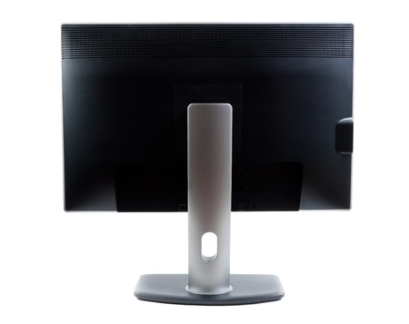 flat panel monitor: LCD monitor, rear view on a light background