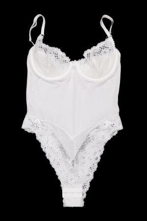 kombidress white lace on a black background