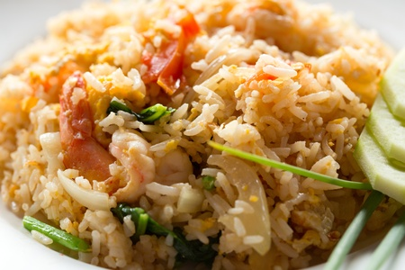 Fried rice. Part of a series of nine Asian food dishes photo