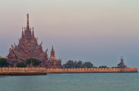 sanctuary of truth in Chonburi thailan photo