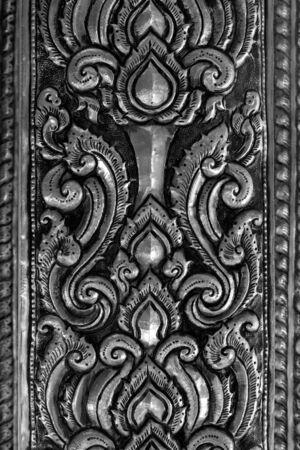 surround: Oriental silver surround pattern of metal stamping