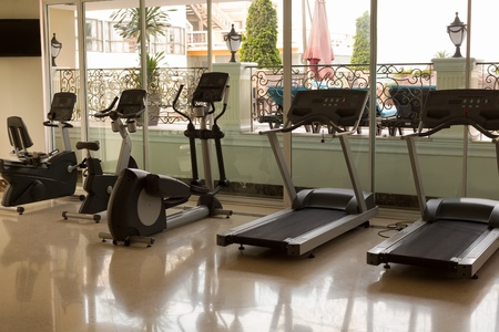 gym at the hotel, jogging tracks