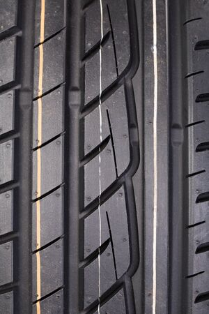 Close-up image or new vehicle tire tread pattern Stock Photo - 19420626