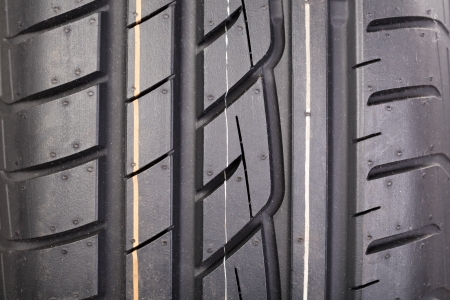 Close image or new vehicle tire tread pattern Stock Photo - 19420719