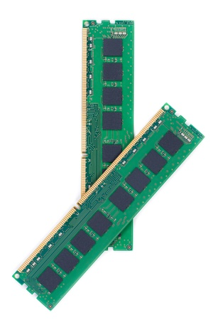 ddr3: RAM DDR3 (Random Access Memory) for PC. On white background