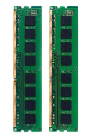 RAM (Random Access Memory) for PC. on white background. photo