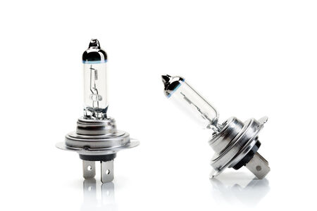 Two beam bulb H7, isolated on white.