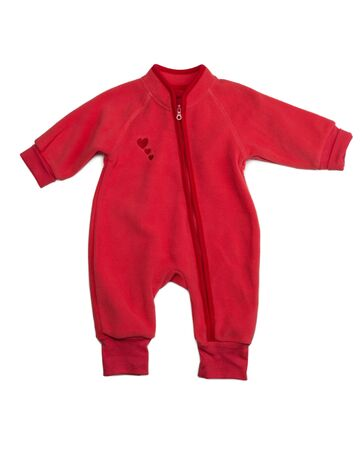 rompers: Red rompers. Isolate on white background.