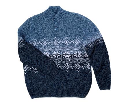 Gestrickte Pullover Mit Schneeflocken-Muster. Isolieren Auf Weiß ...