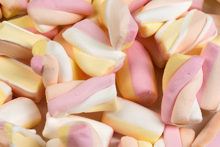chewy: Background of the chewy sweets. Isolate on white. Stock Photo