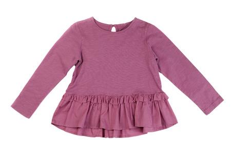 velvet dress: Cotton baby dress. Isolate on white.