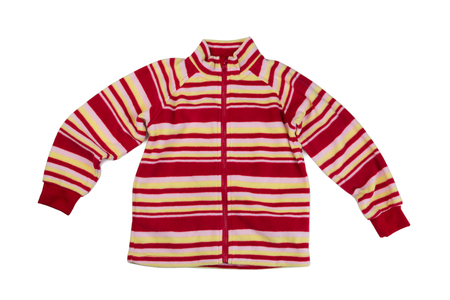 sudadera: Children fleece sweatshirt, isolate on white, studio Foto de archivo