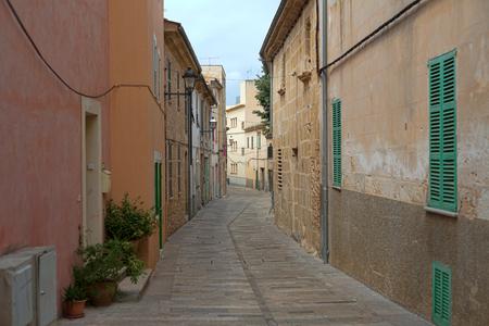 Former European colonial deserted street