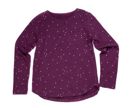 Purple Womens blouse, isolate on a white background