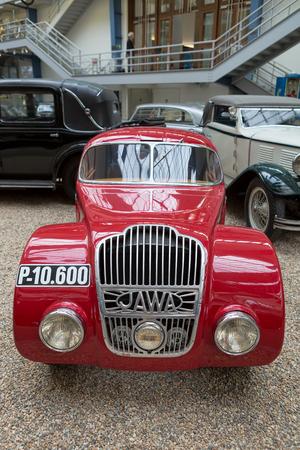 PRAGUE, CZECH REPUBLIC - MAY 2017: Car Java 750 1934 year,in National technical museum in Prague,Czech republik Editorial