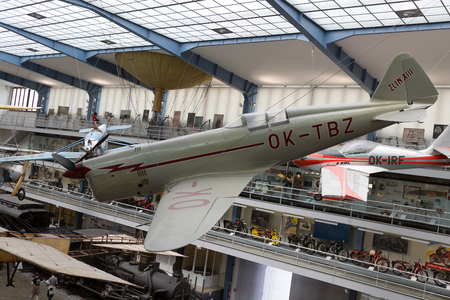 PRAGUE, CZECH REPUBLIC - MAY 2017: Old vintage airplane, National Technical Museum