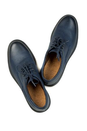 Stylish leather mens shoes. Isolate on white background.