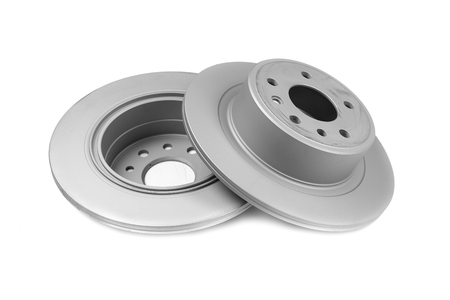 Set of brake discs. Isolate on white background Stock fotó