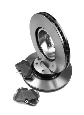 new brake discs. Isolate on white background Stock fotó