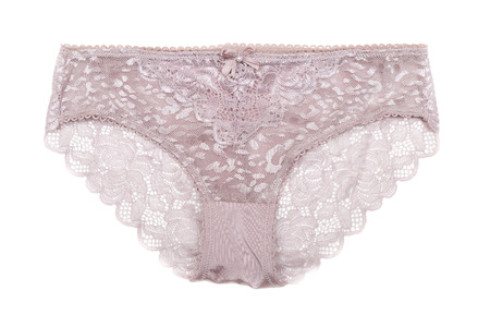 Lace female panties. Isolated on white background