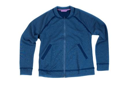 blue jacket. Isolate on white background