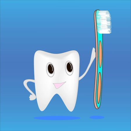 tooth brush: tooth and toothbrush to brush your teeth hygiene Illustration