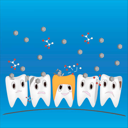 buckler: crown on the tooth to protect from destruction vector image
