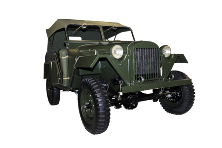 GAZ 64 - Soviet military four-wheel drive car with a PTFE coating body. Production Year: 1941-1943