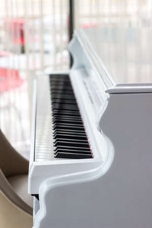 White piano with black keys
