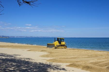 earthwork: excavator equals sand