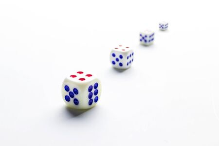 playing cubes in perspective