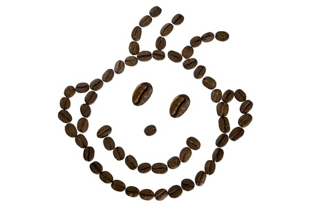 funny face from coffee beans