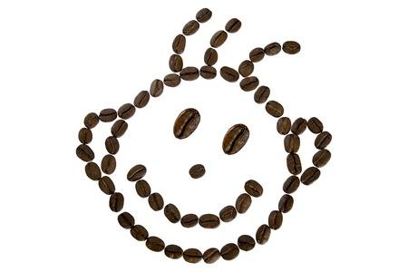 Lustiges Gesicht von Kaffeebohnen Standard-Bild - 96291988