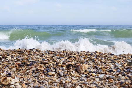 black sea beach for rest and bathing