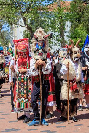 Carnival masks Bulgaria Varna 28.04.2018 Redakční