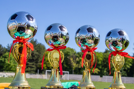 Award cups young footballers