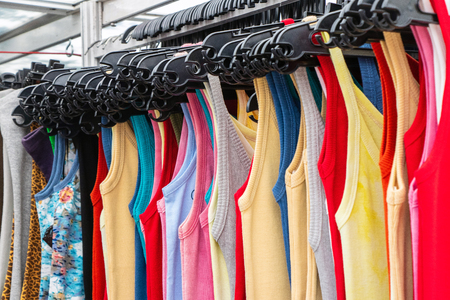 sales of summer clothes Imagens