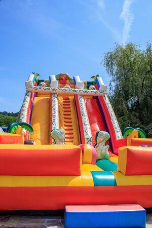 entertaining inflatable trampoline for children bulgaria varna 16.05.2018