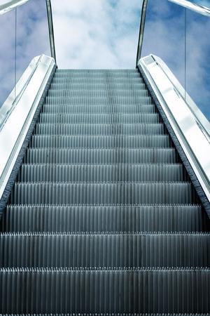 Escalator rides in the sky