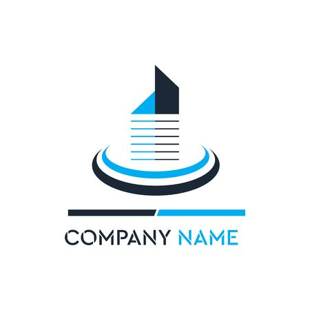 Luxury Building Construction Company Logo Vector Çizim