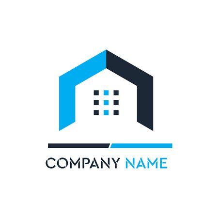 Luxury Building Construction Company Logo Vector illustration