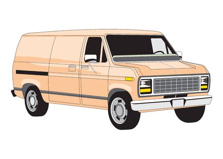 Off-road car on white background. Image of a pickup truck in a realistic style. Vector illustration