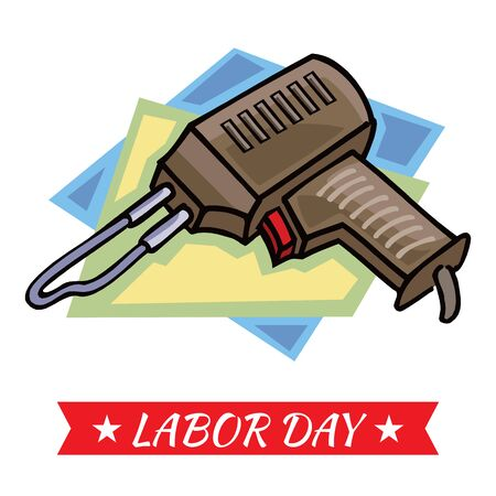 labor day banner on white background