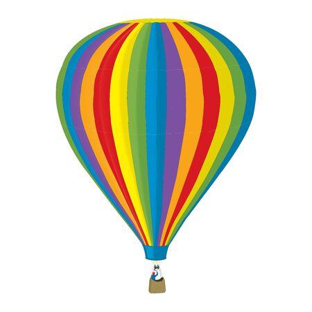 Airballoon cartoon on white background Illustration