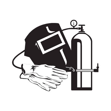 welder icon vector. welder vector graphic illustration Vector Illustration