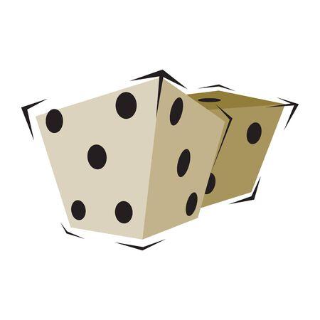 Vector illustration of two dice Illustration