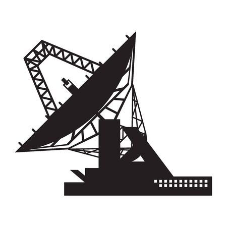 sattelite icon design template. Satellite broadcasting dish