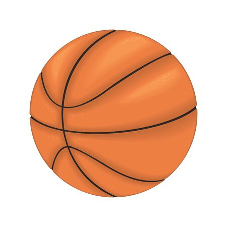 Basketball ball on a white background