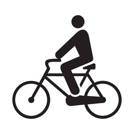 bicyclist icon vector